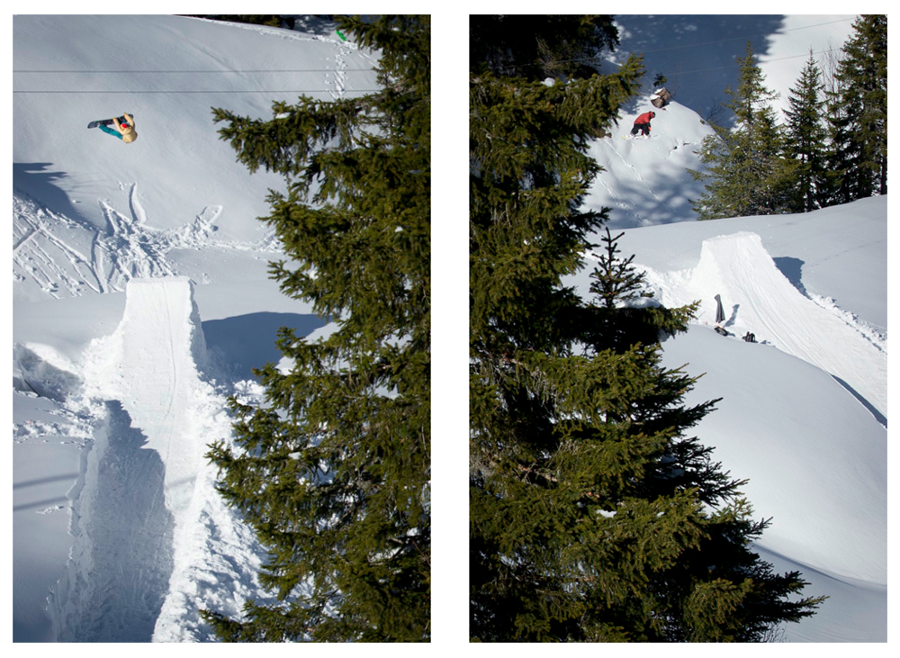 Roger Schuller Thomas Kailin have so many kickeer spots in Hoch-Ybrig that they don't even have to share. © Ahriel