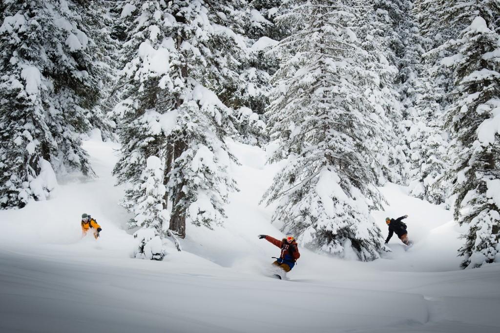 Adrian Oesch, James Neiderberger and Blume - three good reasons to hang around Laax © Ahriel
